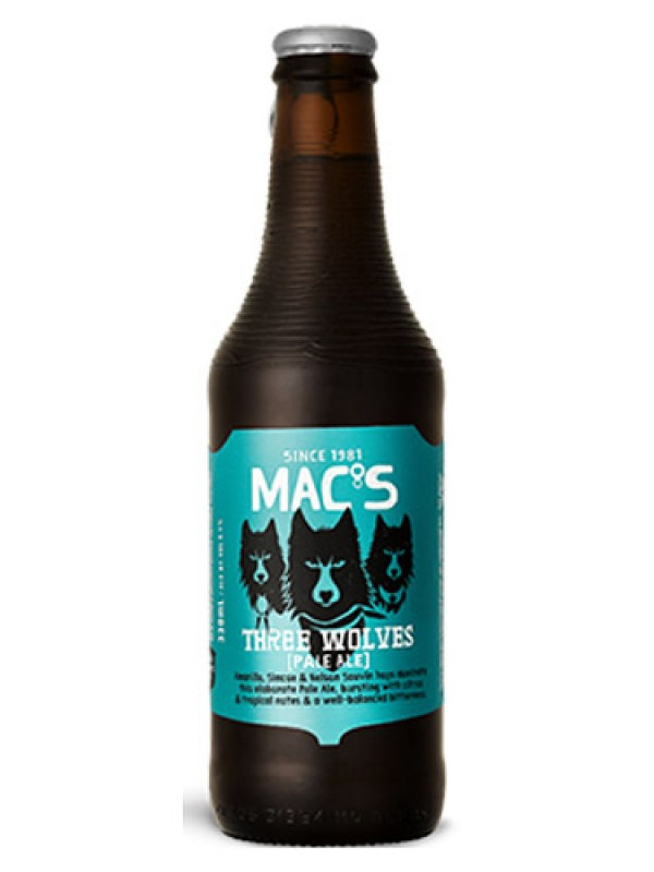 Mac's Three Wolves Pale Ale 330 ml 12 pack