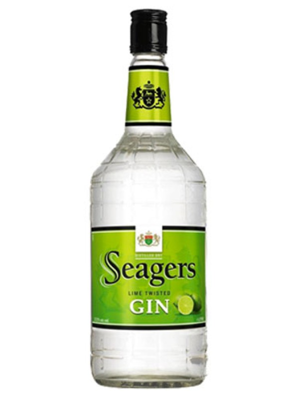 Seagers Dry Gin Lime Twisted – 1 Litre