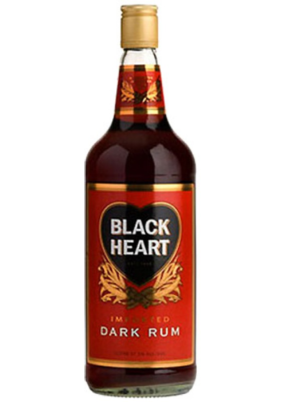 Black Heart Dark Rum 1 Litre