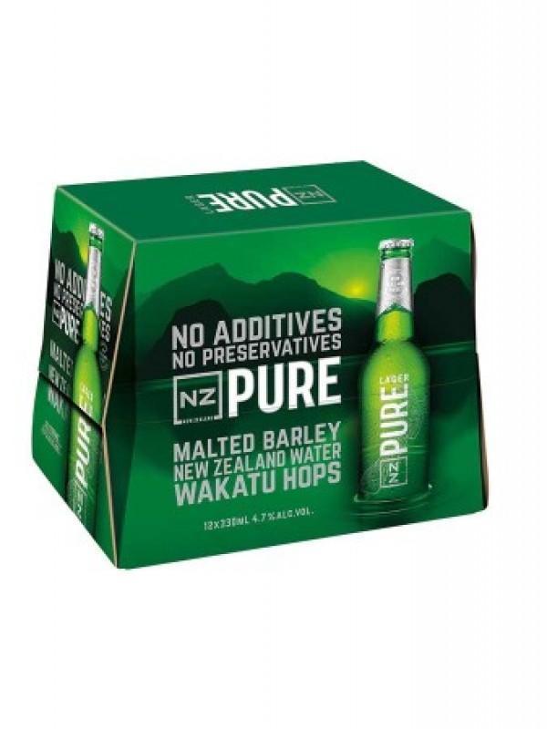 Nz Pure Beer 330ml Btls 12pk