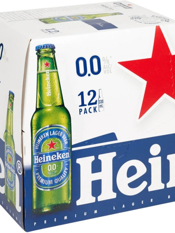 Heineken Lager 0% Alcohol 330ml bottles 12pk